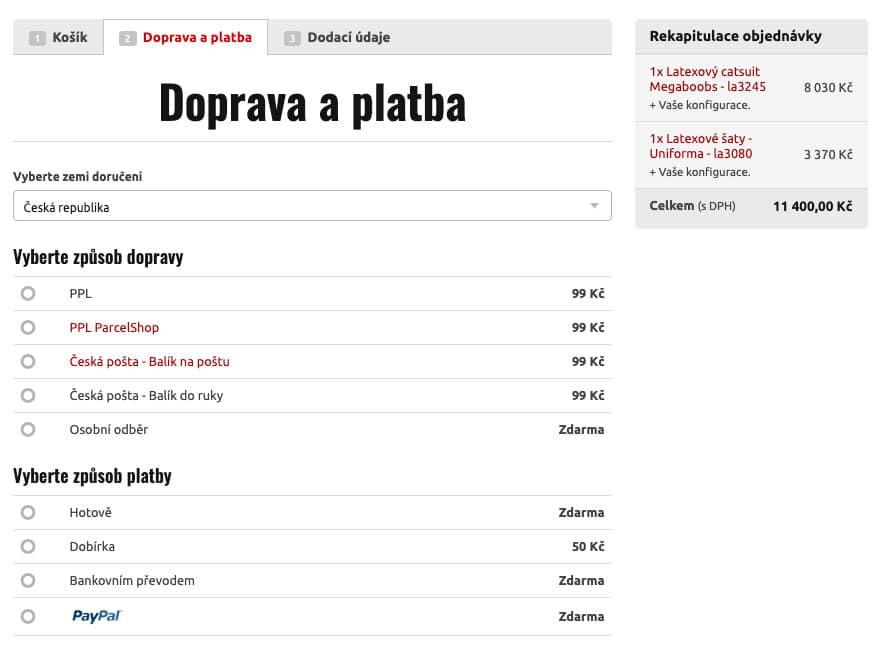 Objednávka bdsm pomůcek - MHsexshop.cz