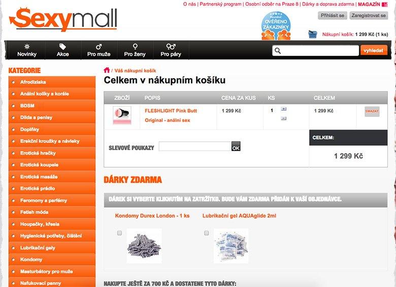 Nákupní košík u Sexymall.cz